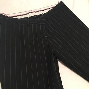 The limited black striped dress pant